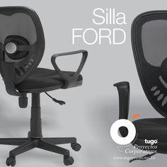 SILLA FORD Silla giratoria #ford con contacto permanente y graduación en altura. Espaldar en malla negro y asiento tapizado (soporta un peso máximo de 70 a 80 Kg. dentro de los parámetros de uso adecuado). Garantía 1 año por defectos de fabricación para componentes de la silla y tapizados. No incluye garantía por uso inadecuado del producto. @tugoproyectoscorporativos. Stationary, Ford, Bike, Chair, Home Decor, Black Mesh, Swivel Chair, Flaws, Chairs