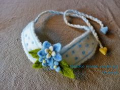Needle felted collar