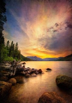 ~~The Color | sunset Donner Lake, California | by Karen Hutton~~