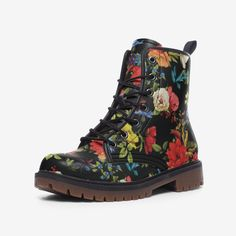 Army Combat Boots, Cute Winter Boots, Floral Boots, Hard Wear, Purple Leather, Ladies Slips, Steel Toe, Platform Boots, Waterproof Boots