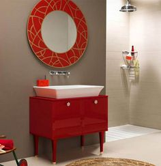 My Auckland Plumber: 11 Deliciously Red Bathrooms