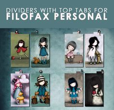 FREE+Dividers+with+top+tab+for+Filofax+PERSONAL+by+lucyWONDERLAND,+€0.21