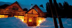 Skoki Lodge - Lake Louise, Alberta - Canada. the first commercial ski lodge in Canada