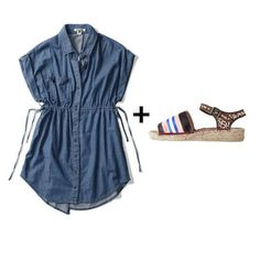 cute cover-up and sandal combinations for the summer #fashion