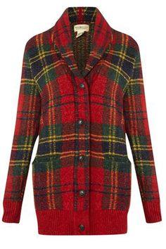 Tartan trend: Denim and Supply … Ralph Lauren Womens Clothing, Tartan Fashion, Ralph Lauren Style, Red Jeans, Cold Weather Fashion, Denim And Supply, Winter Trends, Tartan Plaid, Knit Cardigan