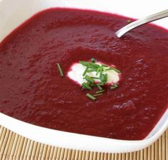 Beet Soup [Lactose-Free & Less sodium] Beet Recipes, Soup Recipes, Healthy Recipes, Beet Soup, Lactose Free, Beets, Soups And Stews, Seafood Recipes, Meal Planning