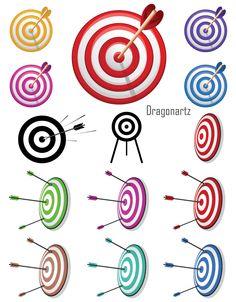 Vector  Arrow Bullseye Target Vector Free Download, Free Vector Art, Bullseye Tattoo, Vinyl Crafts, Paper Cards, Back Tattoo, Tattoo Designs Men, Archery, Vectors