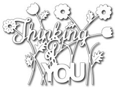 Frantic Stamper Precision Die - Floral Thinking Of You,$19.99