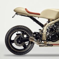 A rare MZ Skorpion cafe racer, meticulously built by Australian Jeff Lamb.