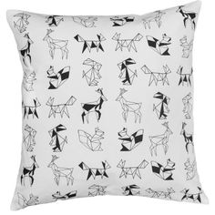 Animal Graphics Black and White Cushion