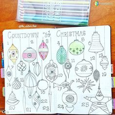 Merry Christmas Bullet Journal Ideas {Stress Free Planning for December} Bullet Journal advent calen Bullet Journal Disney, Bullet Journal Harry Potter, Bullet Journal Christmas, December Bullet Journal, Bullet Journal Set Up, Bullet Journal Cover Page, Bullet Journal Tracker, Bullet Journal Layout, Journal Covers