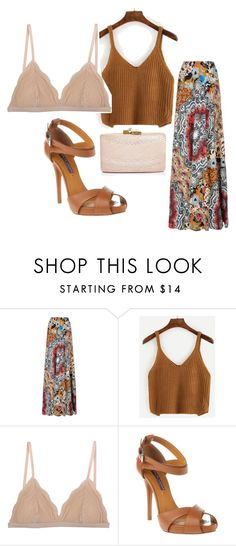 """""""Maxi and Crop Top"""" by sillycatgrl on Polyvore featuring Etro, Cosabella, Ralph Lauren and Kayu"""