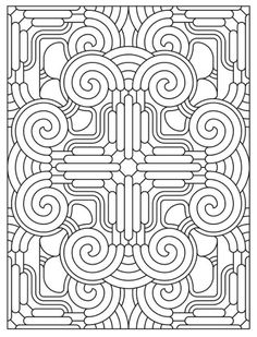 Mandala 624, Creative Haven Mandala Madness Coloring Book, Dover Publications
