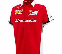 Puma Scuderia Ferrari 2015 Team Shirt Red 761670-01 Scuderia Ferrari 2015 Team Shirt from PUMA inRed Ferrari team logo and shell logo woven badge Santander logo pigment print Pirelli and Kaspersky embroidery PUMACat logo embroidery Welt Chest Pocket  http://www.comparestoreprices.co.uk/sportswear/puma-scuderia-ferrari-2015-team-shirt-red-761670-01.asp