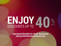 Discounts of up to 40% on your every day business needs? Yeah, we've got that... #savings #discounts #pbnbenefits