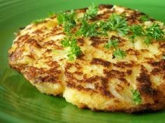 Cauliflower Cheese Patties. Photo by *Parsley* can also add garlic, onion and bake in oven on greased pan 15-20 minutes