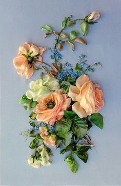 Wonderful Ribbon Embroidery Flowers by Hand Ideas. Enchanting Ribbon Embroidery Flowers by Hand Ideas. Learn Embroidery, Rose Embroidery, Embroidery For Beginners, Hand Embroidery Patterns, Embroidery Kits, Embroidery Designs, Embroidery Techniques, Embroidery Stitches, Machine Embroidery