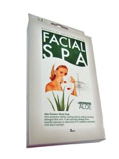 Aloe Facial Spa Mask Pack of 3 by Facial Spa. $8.95. Anti-Wrinkle, Blemish Clearing, Lightening, Moisturizer, Nourishing. This mask soothes, and revitalizes aged and tired skin, and provides intensive moisture to help form a protective layer on the skin. This treatment keeps skin smooth, firm, and more healthy - keeping you looking young.