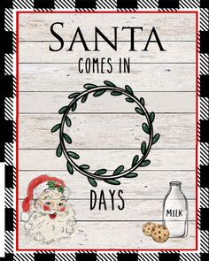Count down the days til Santas arrival with this adorable whiteboard. 20% off with code SHOPSMALL through Monday, November 30,2020. Marker Board, Dry Erase Markers, Whiteboard, Count, November, Santa, Bullet Journal, Ink, Unique Jewelry