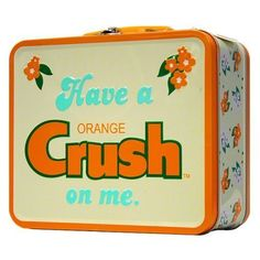 Orange Crush Lunch Box - perfect for carrying my coconut oil to the beach!