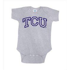 Texas Christian Horned Frogs NCAA Outline Logo Grey Infant Creeper