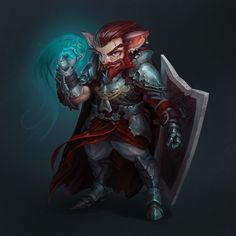 A D&D inspired painting. Meet our hero: Aganazzar Blingdenstone! Dnd Halfling, Paladin, D D Characters, Fantasy Characters, Character Concept, Character Art, Character Ideas, Nerd Poker, Fantasy Rpg