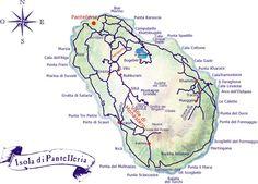 Map of Pantelleria island