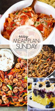 48 Best Easy Meal Plan Sunday Images Weekly Meal Plans Easy
