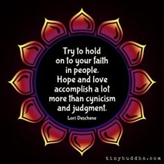 Faith in people