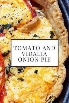 It's only Vidalia Onions for me! See how the most famous onions in the world have quite a history and mak It's only Vidalia Onions for me! See how the most famous onions in the world have quite a history and make the best tomato pie recipe ever! Side Dish Recipes, Vegetable Recipes, Vegetarian Recipes, Cooking Recipes, Healthy Recipes, Veggie Food, Vegetable Pie, Vegetable Casserole, Vidalia Onions