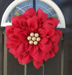 Hey, I found this really awesome Etsy listing at https://www.etsy.com/listing/290063905/poinsettia-wreath-burlap-flower-wreath