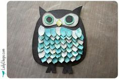 The body of this owl is Made with a Martha leaf punch (Which I have...yippeee)