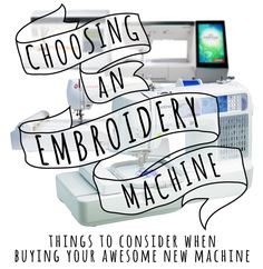Urban Threads has published a blog post that includes some great tips for choosing an embroidery machine. If you're in the market for an em...