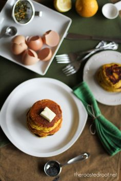 Lemon Poppy Seed Coconut Flour Pancakes