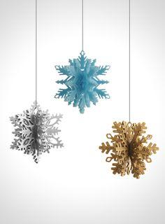 3D Printed Christmas Snowflake Ornaments by Matthijs Kok