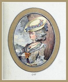 Hats by Madame Bertin  (Milliner to Marie Antoinette & the French Court) 1782