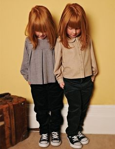 Marmalade and Mash - redhead twin girls Little Fashion, Fashion Kids, Fashion Outfits, Ginger Kids, The Cardigans, Beautiful Redhead, Natural Redhead, Ginger Hair, Stylish Kids