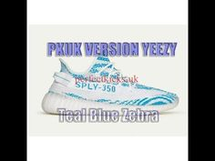 PKUK VERSION !! Yeezy Boost 350 V2 Teal Blue Zebra HD Review From perfec...