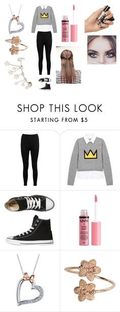 """Cuff Earrings"" by kaylamoraled on Polyvore featuring Boohoo, Alice + Olivia, Converse, Charlotte Russe, Disney and Valentino"