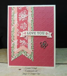 Easy Valentine by mathgirl - Cards and Paper Crafts at Splitcoaststampers