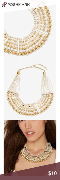 NASTY GAL STATEMENT NECKLACE NWT This beaded statement necklace has a vintage but unique style and touch to it . Nasty Gal Jewelry Necklaces