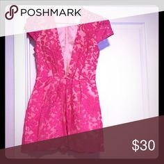 Missguided Hot Pink Lace Romper Playsuit Sz10 Brand new never worn runs small sorry no trades Missguided Other