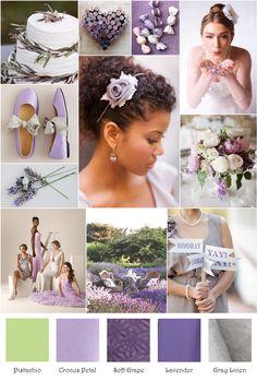 Lavender Crocus Pistachio Gray Inspiration Board