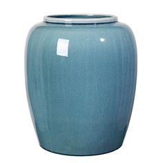 Crackle Vase 36 cm, Flint Stone Blue 972 kr. - RoyalDesign.dk