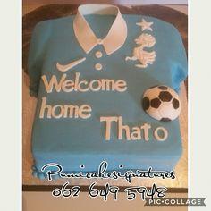 soccer T shirt cake