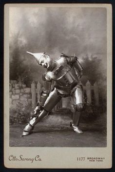Tin Man from The Wizard of Oz in 1903.