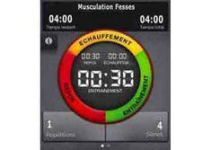 timer runtastic pour programme de musculation fesses