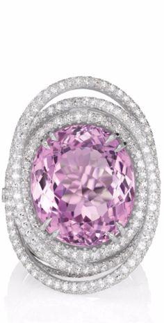{MARGHERITA BURGENER A Kunzite and Diamond Ring} ht