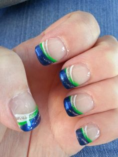 My Seahawk Nails 2014 Season Week 1