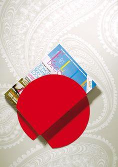 Nippon, Magazine shelf, red
